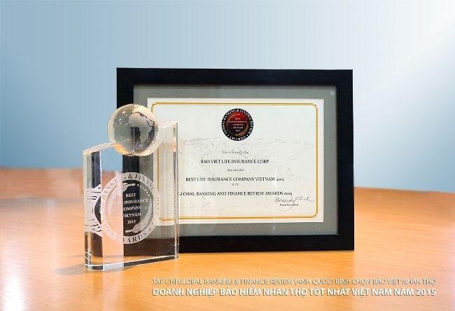 Giải thưởng của Bảo Việt Nhân thọ