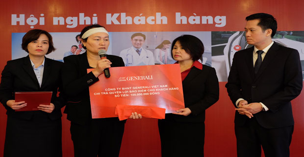 Generali Việt Nam chi trả quyền lợi bảo hiểm