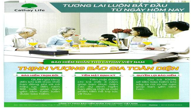 Sản phẩm bảo hiểm nhân thọ Cathay Việt Nam