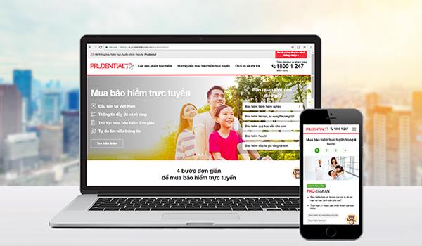 Prudential cho ra mắt giao diện website thương mại điện tử